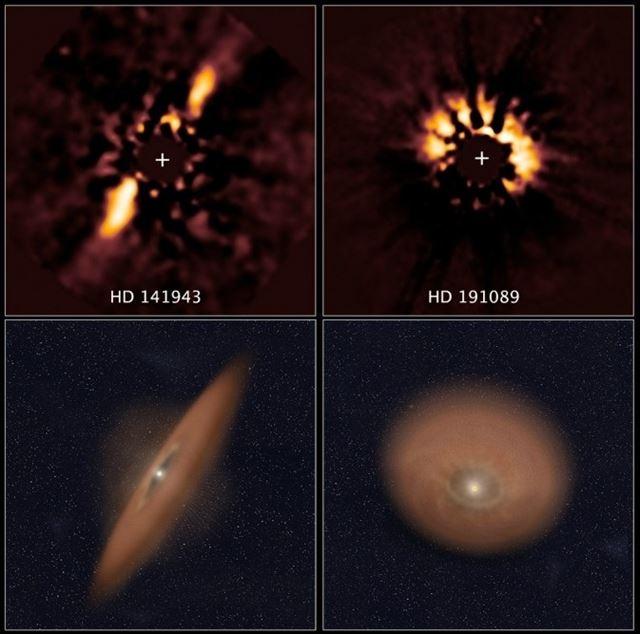 Resultado de imagen de Sistemas planetarios en formación en Orión