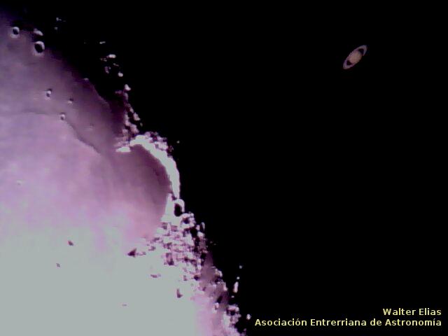 Ocultación de Saturno. Momentos previos