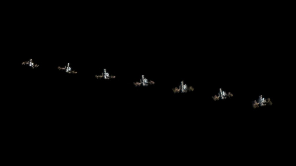 Secuencia de la ISS tomada por Emilio Küffer desde Oro Verde