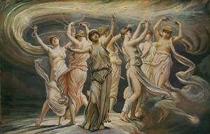 Las Pléyades, por el pintor simbolista Elihu Vedder (1885).