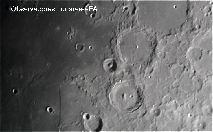 volcanes en la luna